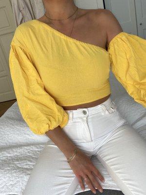 Gelbe Bluse one shoulder XS neu