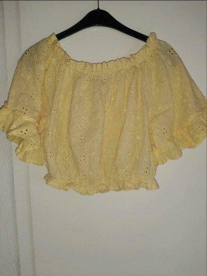 Gelbe Crop Bluse