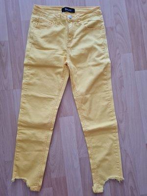 Gelbe crop Jeans