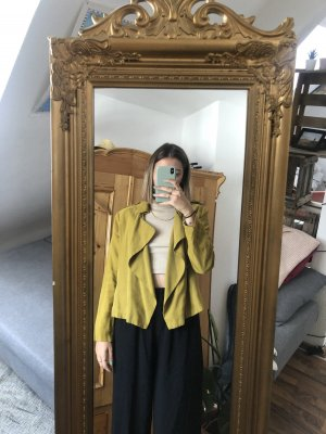 Zara Basic Kurtka przejściowa żółty