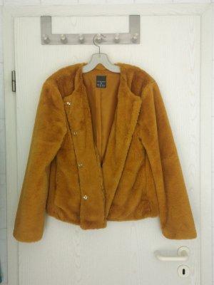 Gelbe Fake Fur Jacke