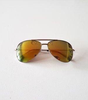 gelbe, goldene Sonnenbrille , Pilotenbrille mit verspiegelten Gläsern von H&M