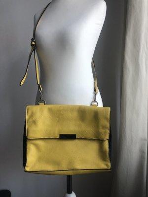 Gelbe Handtasche | Magnetverschluss