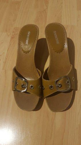 Gelbe High Heel Sandaletten
