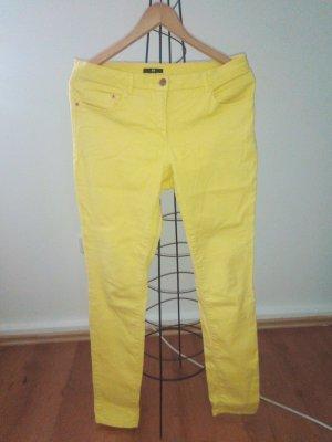 H&M Jeansy z prostymi nogawkami bladożółty