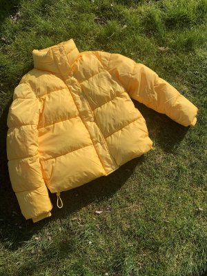 H&M Quilted Jacket yellow