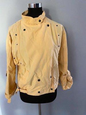 Kurtka pilotka limonkowy żółty-ciemny żółty Tkanina z mieszanych włókien