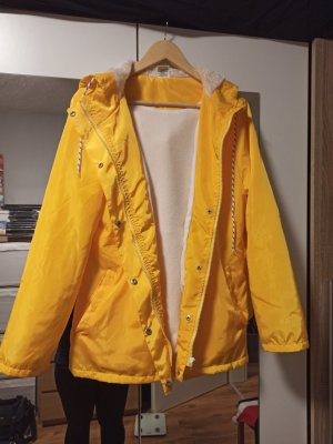 Raincoat natural white-yellow polyester