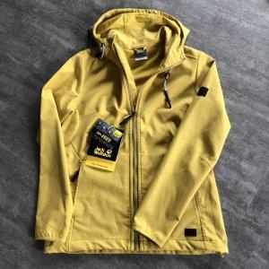 Jack Wolfskin Outdoor Jacket dark yellow-gold orange polyester
