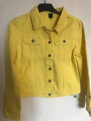 Gelbe Jeans Jacke