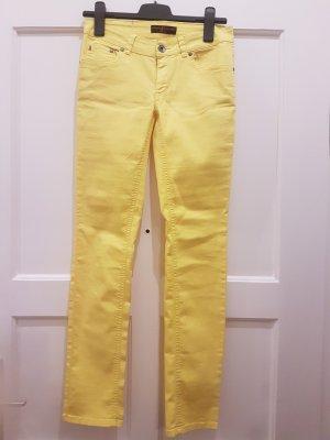 Gelbe Jeans Stretch Hose