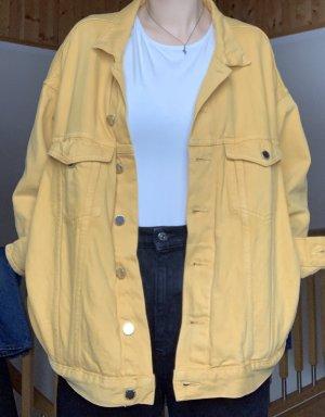 gelbe Jeansjacke
