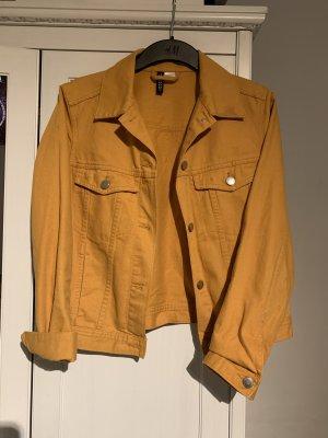 H&M Spijkerjack goud Oranje