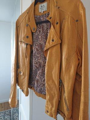 outerwear Kurtka z imitacji skóry żółty-złotopomarańczowy