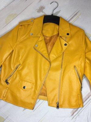 Jennyfer Giacca in pelle giallo-oro-arancione chiaro