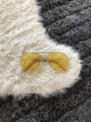 Gelbe Pilotenbrille