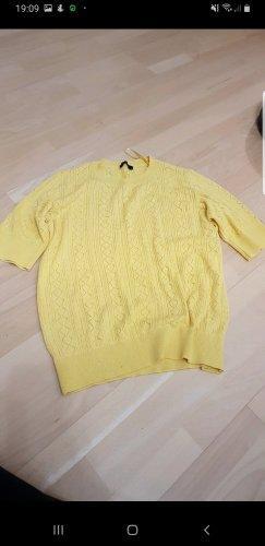 Sweter z krótkim rękawem żółty