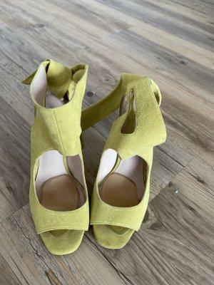 Gelbe Sandale aus Echtleder <3