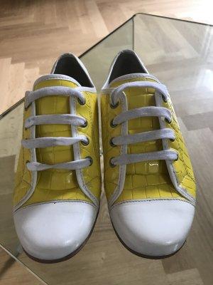 Gelbe Schlangen Lackleder Bowling Schuhe Gr. 37