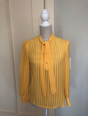 Only Tie-neck Blouse yellow