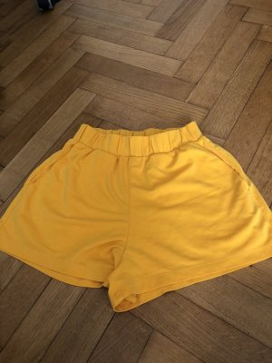 Monki High-Waist-Shorts light orange-gold orange