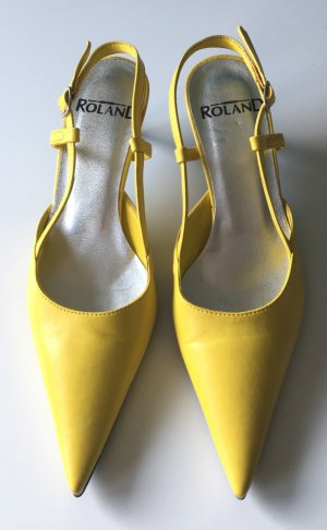 Roland Slingback Pumps yellow