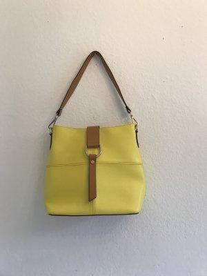 Bolsa de hombro amarillo oscuro-coñac