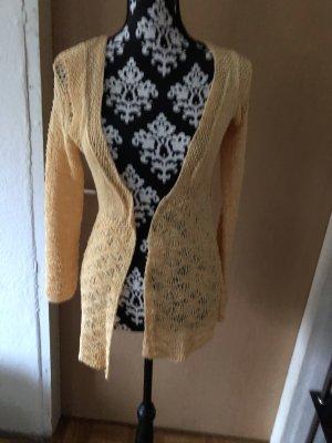 Knitted Vest gold orange