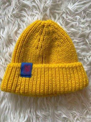 Knitted Hat gold orange-dark yellow