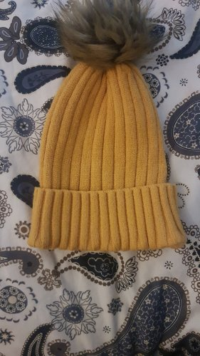 Primark Knitted Hat sand brown-yellow