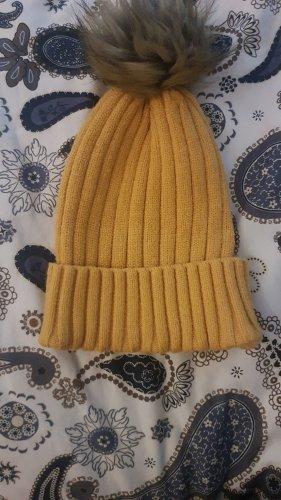 Gelbe Strickmütze PRIMARK