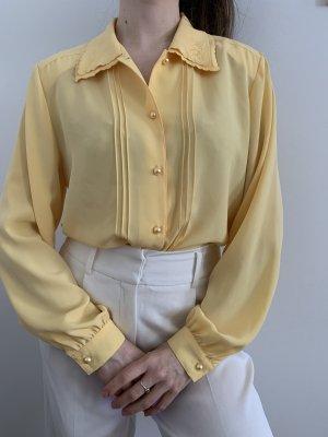 Gelbe vintage Bluse
