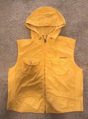 Cinque Chaleco con capucha naranja dorado