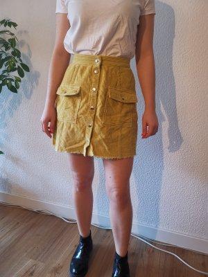 Boohoo High Waist Skirt yellow