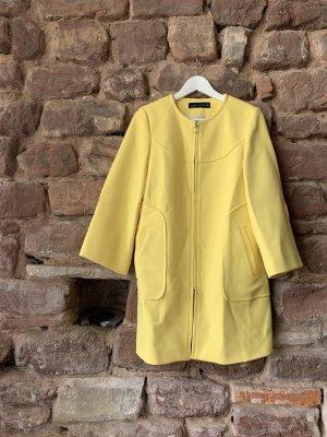 Zara Manteau mi-saison jaune-jaune clair