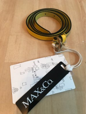 Max & Co. Ceinture en cuir jaune