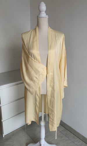 Gelber Kimono Morgenmantel aus reiner Seide von Palmers