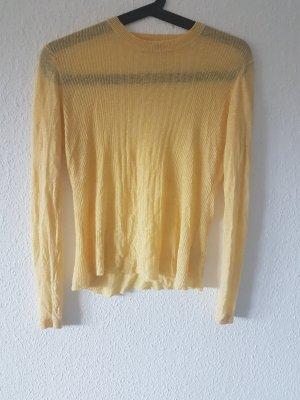 gelber Pullover mit Kaschmir