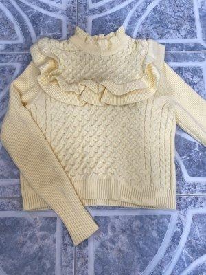 Zara Maglione intrecciato giallo chiaro-giallo