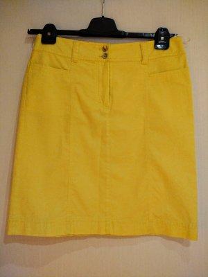 Betty Barclay Gonna di jeans giallo Cotone