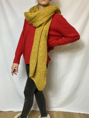 s.Oliver Woolen Scarf lime yellow-gold orange