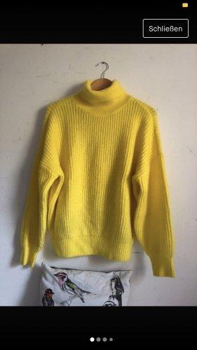 Clockhouse Jersey de cuello alto amarillo
