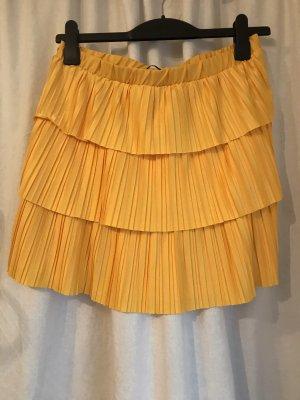 Zara Broomstick Skirt gold orange-yellow