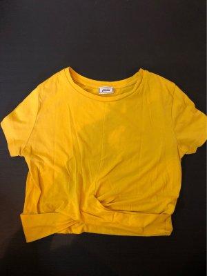 Gelbes, Bauchfreies Tshirt