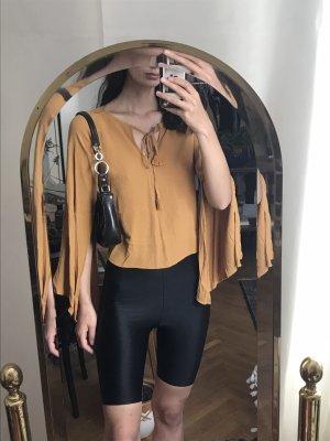 gelbes boheme shirt schlagärmel