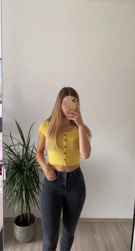 Fishbone Cropped Shirt yellow
