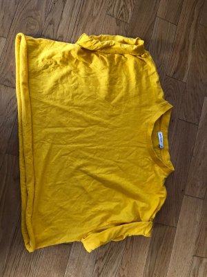 River Island Camicia cropped giallo Cotone