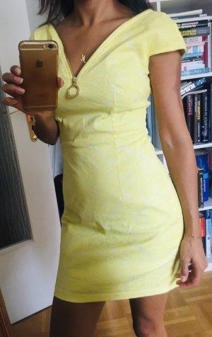 Vestido vaquero blanco-amarillo