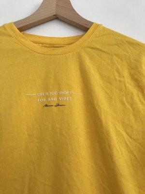 Gelbes Denim T-Shirt