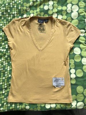 Gelbes g-star Oberteil Größe s / 36 selten getragen wie neu rückenprint